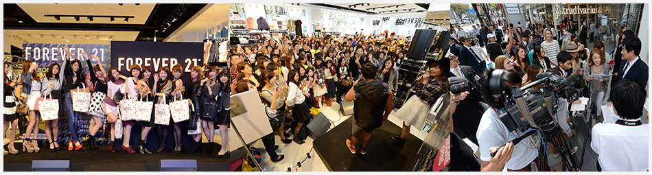 雑誌GLITTERとの前夜祭、スギちゃん/MACOとの店内イベント、会長のTV取材