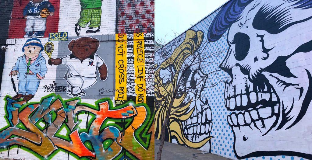 ブルックリン・ブッシュウィックにあるウォールアート1