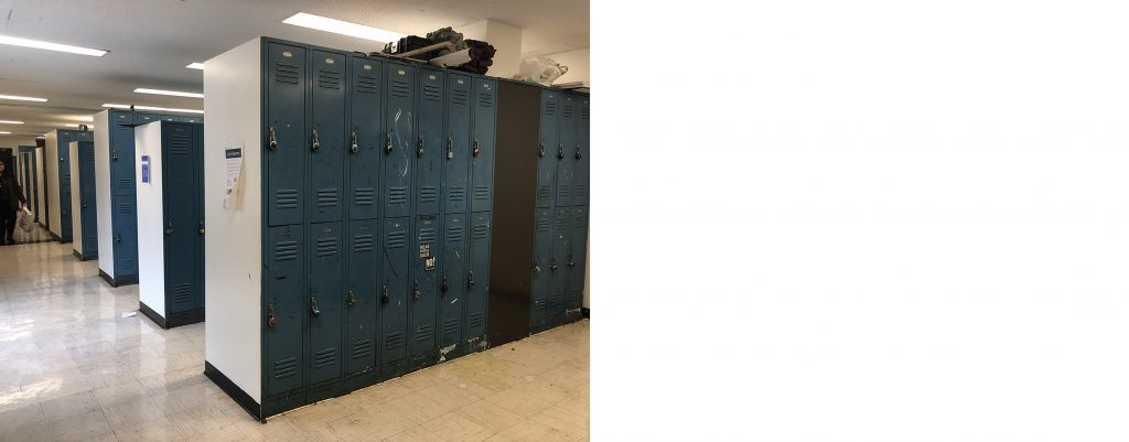 FIT校舎内生徒用ロッカー