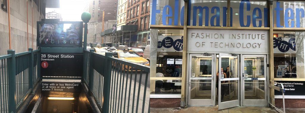 マンハッタンの中心地チェルシーにあるFIT入り口