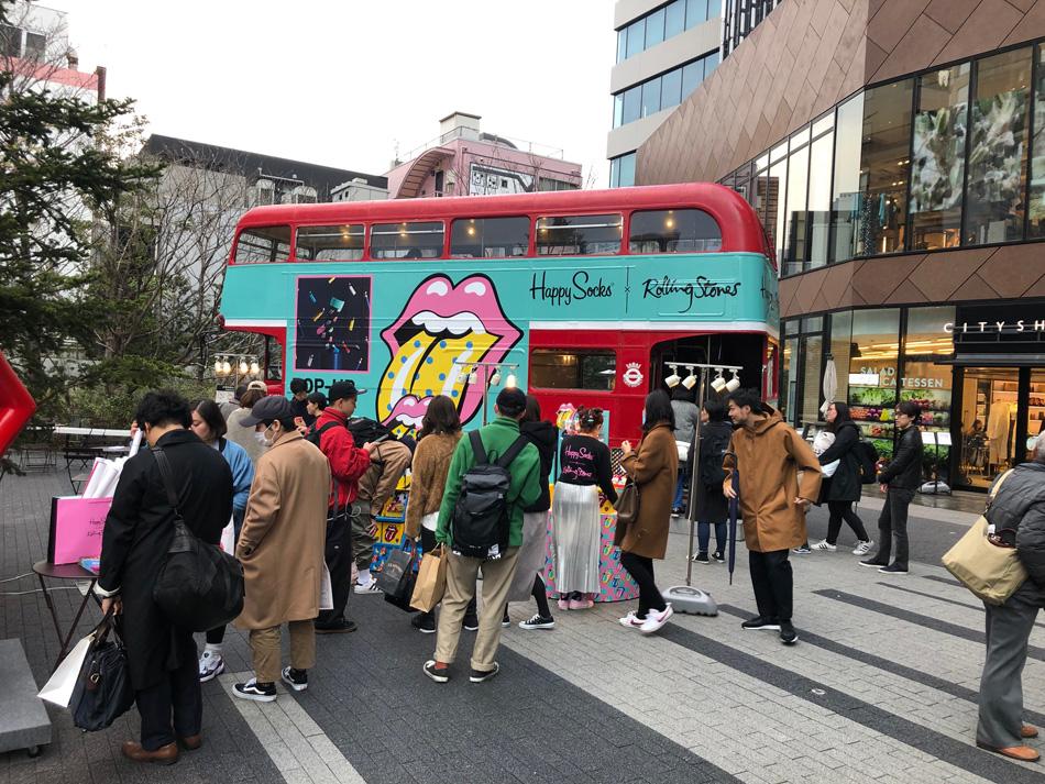 ロンドンバスPR走行実施の様子